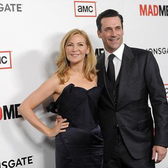 Mad Men's Jon Hamm with girlfriend Jennifer Westfeldt