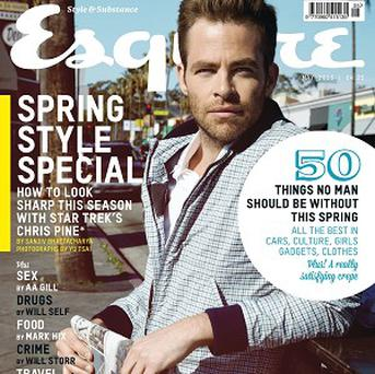 Chris Pine told Esquire he didn't want to audition for Star Trek