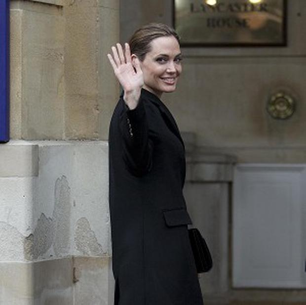 Angelina Jolie has attended the G-8 gathering in London when undergoing treatment