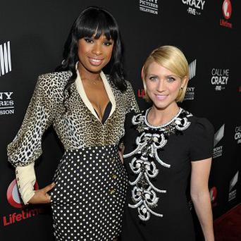 Jennifer Hudson and Brittany Snow attend the Call Me Crazy event