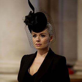 Katherine Jenkins attended the funeral service of Baroness Thatcher