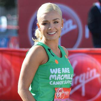 Katherine Jenkins ran the London Marathon at the weekend