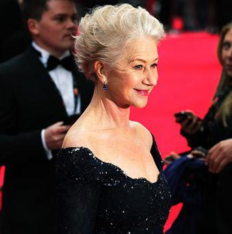 Helen Mirren arrives at the Olivier Awards, where she was crowned the Queen of British theatre