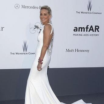 Sharon Stone hosted the amfAR gala in Cannes