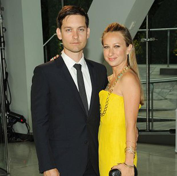 Tobey Maguire stepped out with his wife Jennifer Meyer in New York