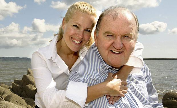 George Hook pictured with his daughter Michelle. Picture: GERRY MOONEY.