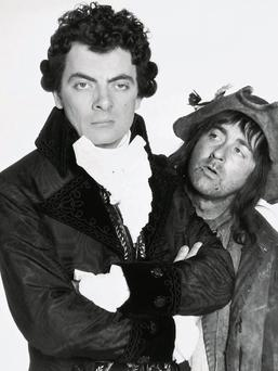 Rowan Atkinson and Tony Robinson in Blackadder