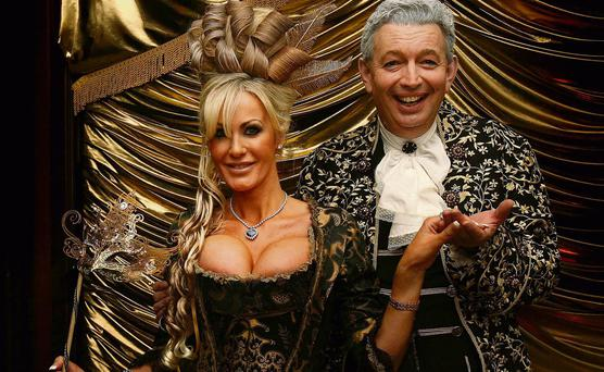GOLDEN COUPLE: Gerald Kean and Lisa Murphy at his 50th birthday party in the Ritz-Carlton