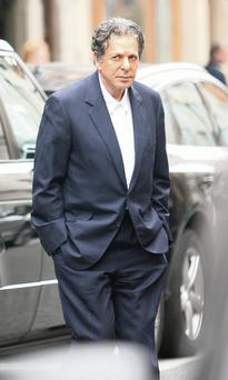 Charles Saatchi leaves Scotts after the lunch. Photo: Jean-Paul