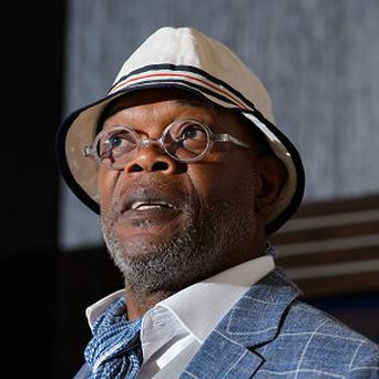Samuel L Jackson speaks at the launch of the 'One For the Boys' charity