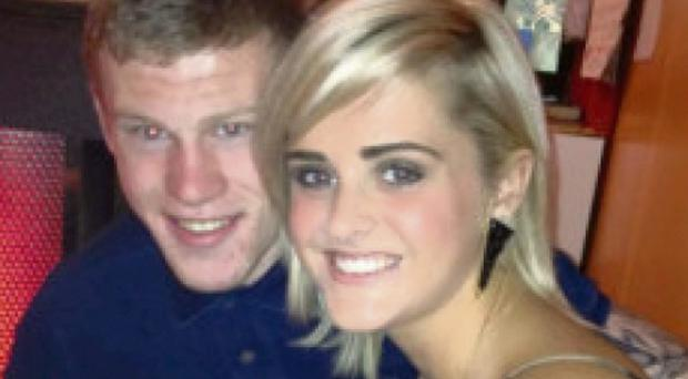 James McClean and new fiancee Erin Connor.