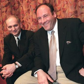 David Chase, creator of The Sopranos, with the late James Gandolfini