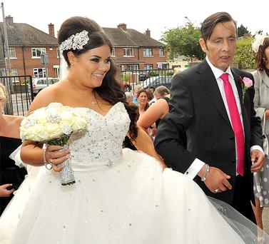 Aslans Christy Dignam got to walk his daughter Keira down the aisle at Our Lady help of Christians church on the Navan road.