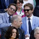 Braley Cooper and Gerard Butler enjoyed Andy Murray's win