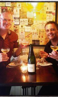 Celebration: Terry Gill and newsreader Aengus MacGrianna have announced their engagement