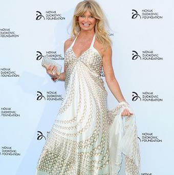 Goldie Hawn's own charity is partnering with the Novak Djokovic Foundation