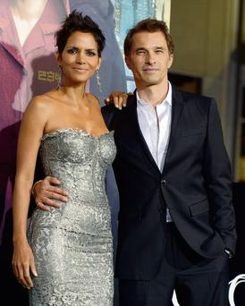 Actress Halle Berry with her fiance the French actor Oliver Martinez