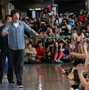 Benedict Cumberbatch received a rock star welcome in Japan
