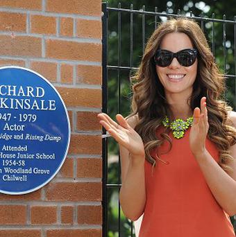 Kate Beckinsale unveiled a plaque at her father's former school