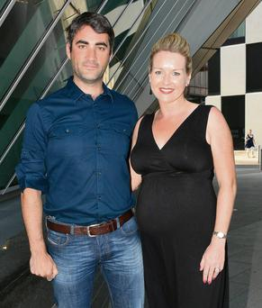 Claire Byrne and fiance Gerry Scollan at 'Hairspray'