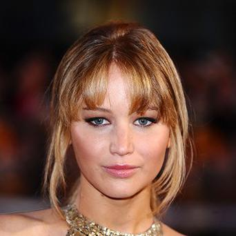 Jennifer Lawrence was at Comic-Con with the cast of the new Hunger Games film