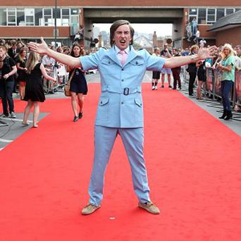 Alan Partridge greets his fans in Norwich