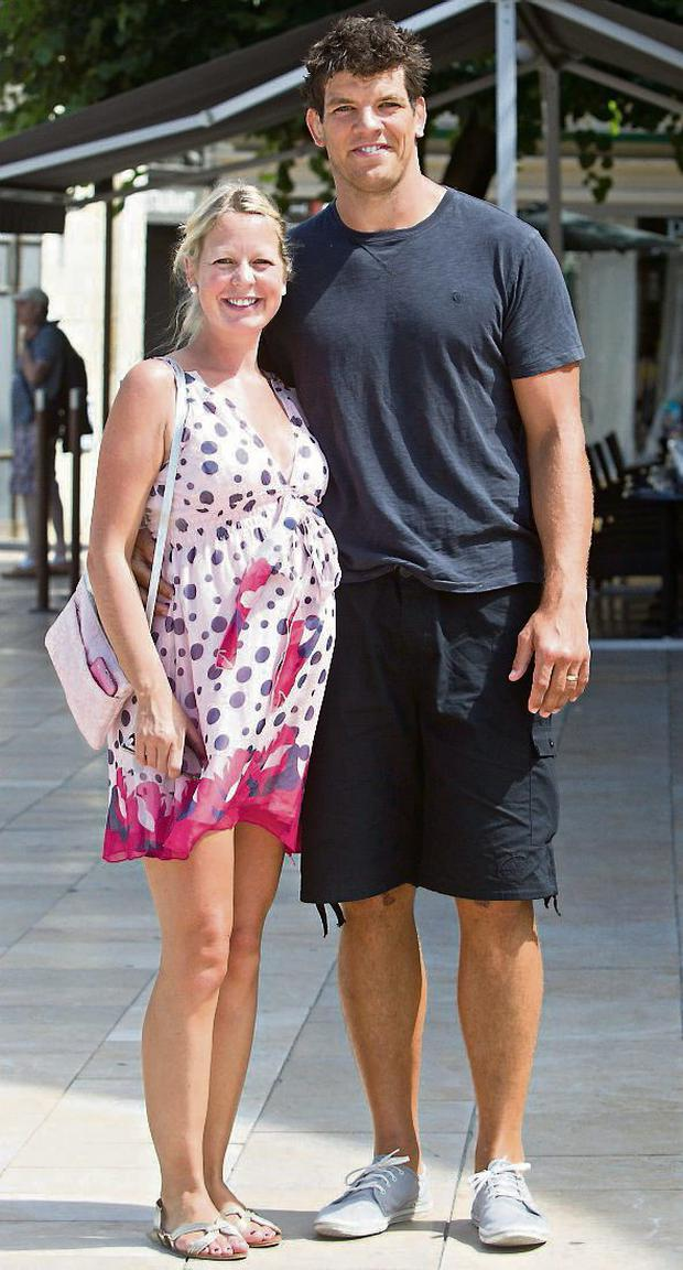 Donnacha O'Callaghan and his wife Jenny