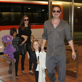 Brad Pitt and Angelina Jolie took three of their children to Japan