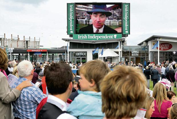 A video tribute is paid to Colm at the Galway Races