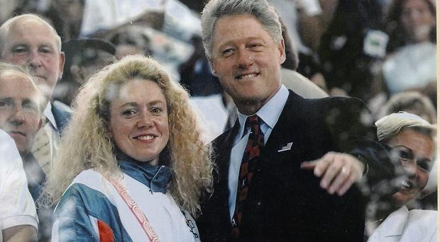 Michelle de Bruin and Bill Clinton