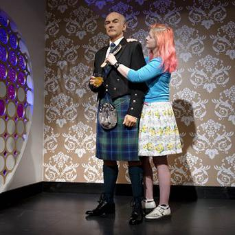 Sean Connery's waxwork was given the tartan touch for the actor's forthcoming birthday