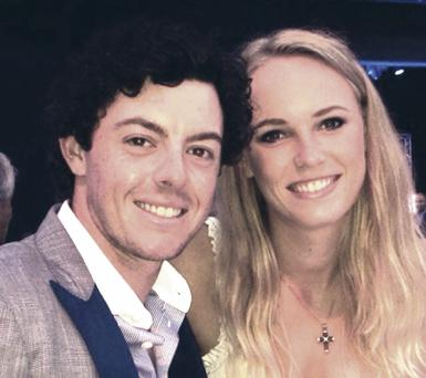 Caroline Wozniacki's new profile picture which was posted on Twitter after rumours of couple's split