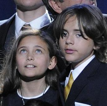 Paris Jackson, with her brother Prince Michael Jackson I