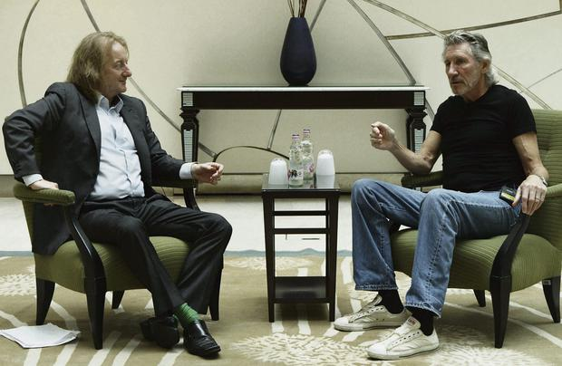 COMFORTABLY NUMB: Barry Egan speaks to former Pink Floyd frontman Roger Waters, right, who is now touring 'The Wall'