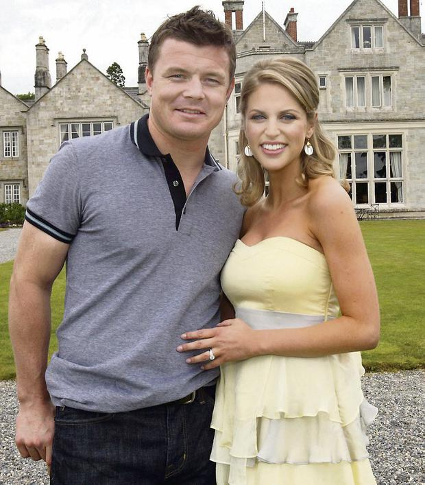 Amy Huberman with her rugby star husband Brian O'Driscoll