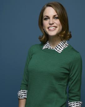 Amy Huberman poses at the Guess Portrait Studio during 2013 Toronto International Film Festival