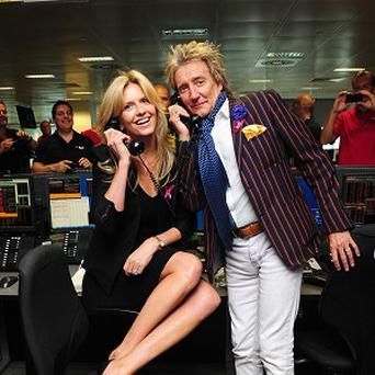 Penny Lancaster and Rod Stewart took part in BGC Partners' Charity Day