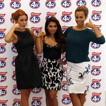 The Saturdays' Una Healy, Vanessa White and Rochelle Humes help launch the new iPhone