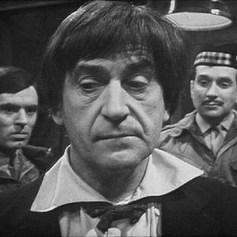 Patrick Troughton in Doctor Who: Web of Fear, one of nine long-lost episodes