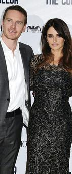 Michael Fassbender and Penelope Cruz at a London screening of 'The Counselor'