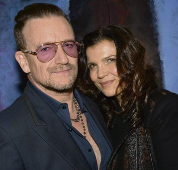 SWEETEST THING: Bono and his wife Ali Hewson attended his niece's art exhibition