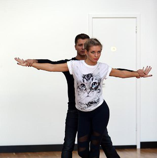 Rachel Riley and her professional dancer Pasha Kovalev have been rehearsing their socks off