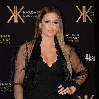 Khloe Kardashian attended her fashion collection launch party at the Natural History Museum