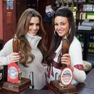 Cheryl Cole and Michelle Keegan on the set of the Rovers Return