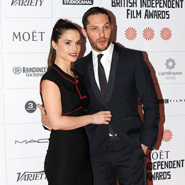 Tom Hardy and Charlotte Riley at the British Independent Film Awards in London