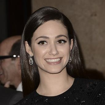 Emmy Rossum watched the UK version of Shameless on mute