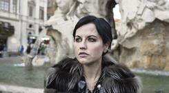 Dolores O'Riordan in Rome where she was visiting the Vatican to meet the Pope. Photos: Alessandro Penso