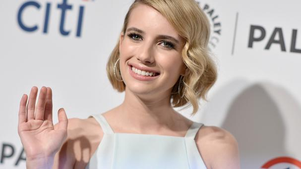 Emma Roberts says she was frightened when filming some of the creepier scenes in American Horror Story (AP)