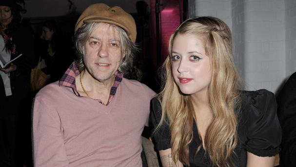 Bob Geldof and his daughter Peaches