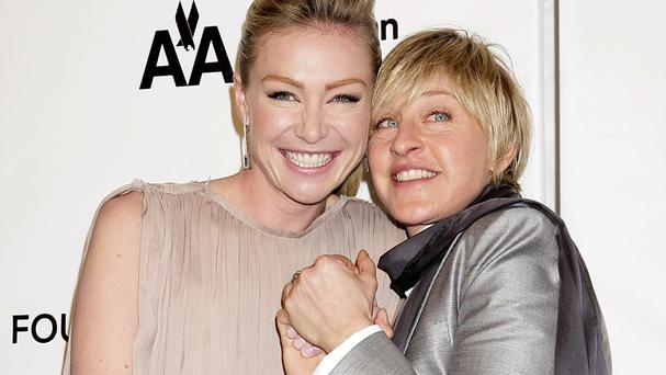 Ellen DeGeneres is married to actress Portia de Rossi